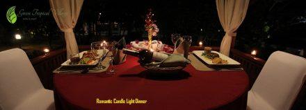 Romantic Candle Light Dinner honeymoon belitung