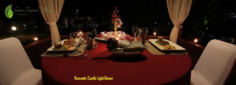Romantic Candle Light Dinner honeymoon belitung
