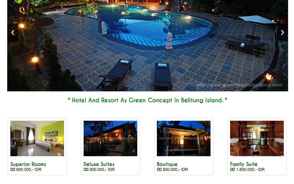 Hotel green tropical village belitung